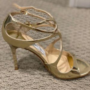 Jimmy choo high heels in gold